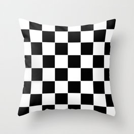 Checkerboard pattern Throw Pillow