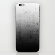 Black Ombre Concrete Texture iPhone Skin
