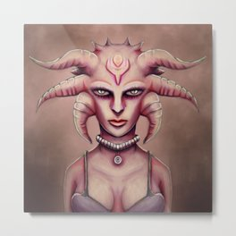 Hoty Grunge Alien Medusa Metal Print