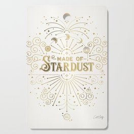 Made of Stardust – Gold Palette Cutting Board