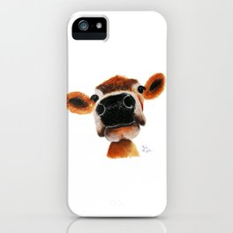 Nosey Cow ' JERSEY JOY ' by Shirley MacArthur iPhone Case
