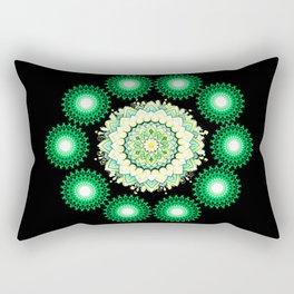 Anahata Flower in the Night Rectangular Pillow