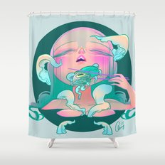 Horror fish Shower Curtain