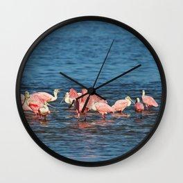 Roseate Spoonbills Wall Clock