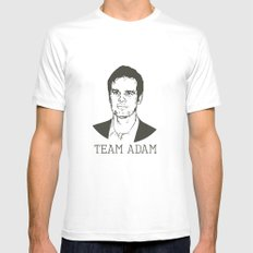 Team Adam MEDIUM Mens Fitted Tee White
