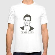 Team Adam Mens Fitted Tee MEDIUM White