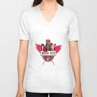 kris tate V-neck T-shirts featuring Malia Tate by Papa-Paparazzi