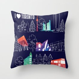 I heart Toronto (navy) Throw Pillow