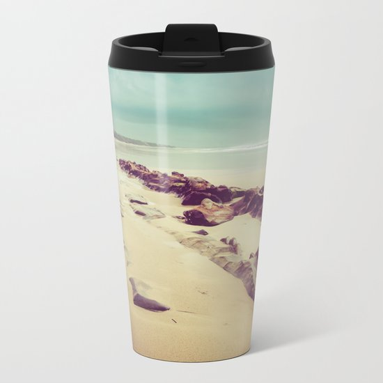 Blue Ocean Path Metal Travel Mug