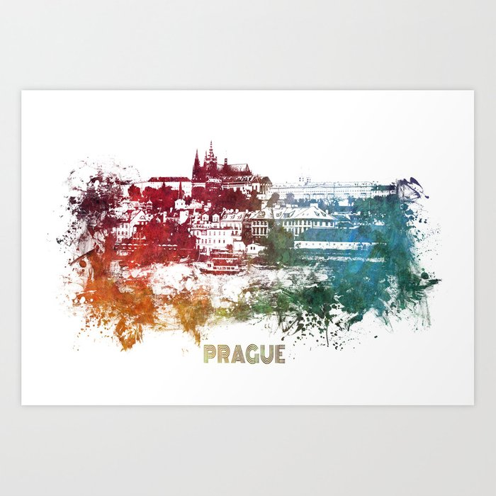 Prague skyline Art Print