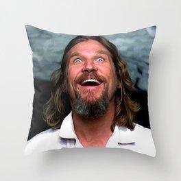 Jeff Bridges As The Dude Throw Pillow