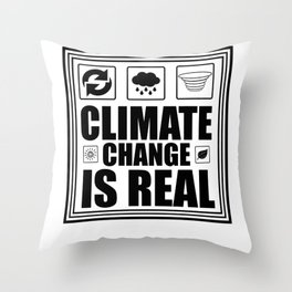 Climate Change Is Real Throw Pillow