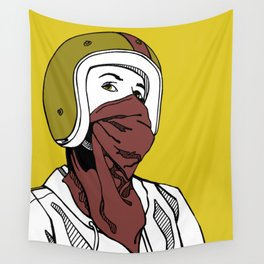 Red Scarf Wall Tapestry