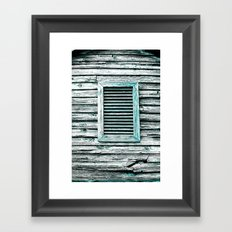 Single Window Framed Art Print
