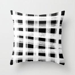 White cage Throw Pillow