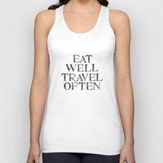 Eat well, Travel often Unisex Tank Top