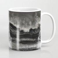 gentleman Mugs featuring Gentleman Surf  by Ricca Design Co.