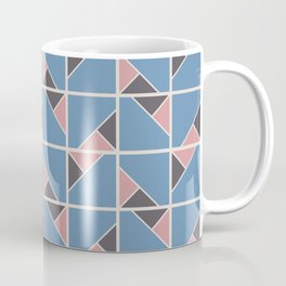 Retro Geometry surface pattern (Pink-blue) Coffee Mug