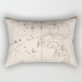 Johann Bayer - Uranometria / Measuring the Heavens (1661) - 34 Eridanus / The River Rectangular Pillow