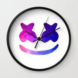 marshmello face Wall Clock