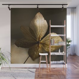 Autumn Scene - Dry Petals with Golden Sunset Light #decor #society6 #buyart Wall Mural