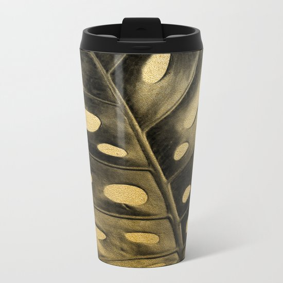 Golden Palms 02 Metal Travel Mug