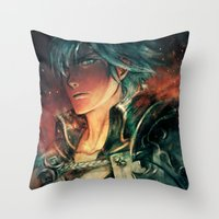 fresh prince Throw Pillows featuring Fresh Prince of Ylisse by Alice X. Zhang