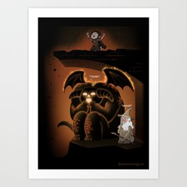 Wizardly Shenanigans Art Print
