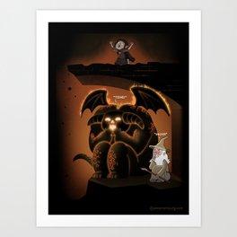 Wizardly Shenanigans Art Print