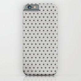 Black/White Japanese Hemp Kimono Pattern iPhone Case