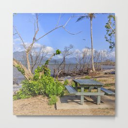 Picnic by the shore Metal Print