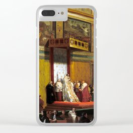 Jean-Auguste-Dominique Ingres Pope Pius VII in the Sistine Chapel Clear iPhone Case