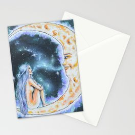 """Conversation With The Moon"" Stationery Cards"