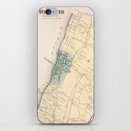 Vintage Map of Yonkers New York (1867) iPhone Skin