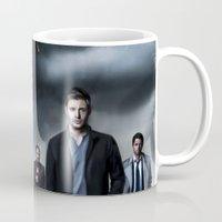 supernatural Mugs featuring Supernatural by Clara J Aira