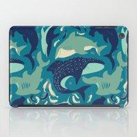 sharks iPad Cases featuring Sharks by Dani Tea