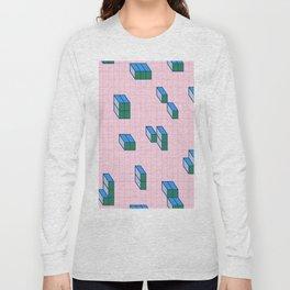Grid & Tetris Long Sleeve T-shirt