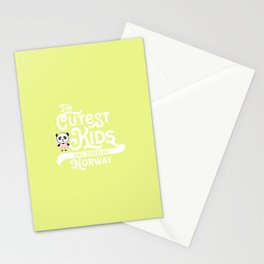 Cutest Kids Panda born in Norway T-Shirt Stationery Cards