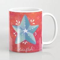 starfish Mugs featuring Starfish by Anoosha Syed