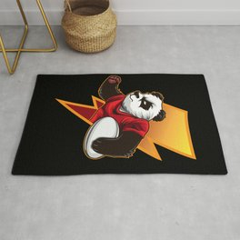 Determined Rugby Panda Wants To Win Rug