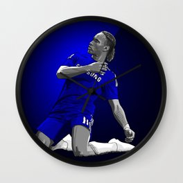 Didier Drogba - Chelsea Wall Clock