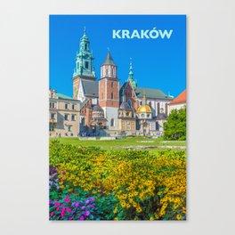 Krakow Travel Poster Canvas Print