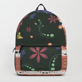 Otavalo print green Backpack