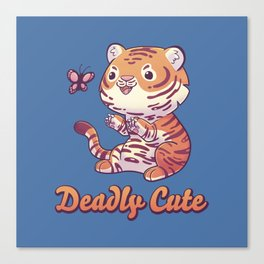 Deadly Cute Tiger Canvas Print
