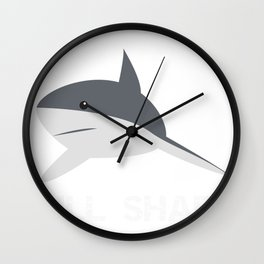 Shark Bullshark Funny Bull Shark Gift Wall Clock