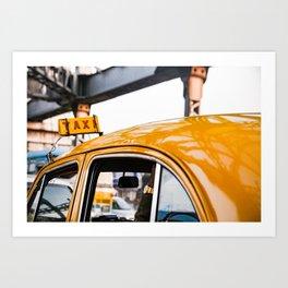 Calcutta Taxi Art Print