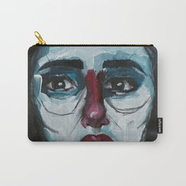 Don't cry Bernadette - Acrylics on Canvas Carry-All Pouch