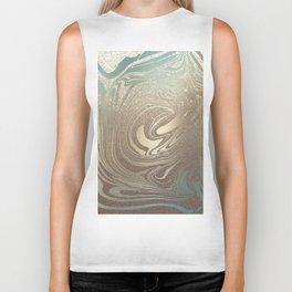 Mermaid Gold Wave Biker Tank