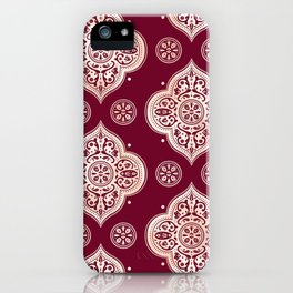 Floral Medallion Pattern iPhone Case