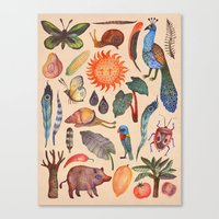 tropical Canvas Prints featuring Tropical by Vladimir Stankovic